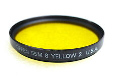 55mm Tiffen No.8 YELLOW 2 Contrast Filter - NEW