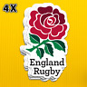 4 x Premium Quality English Rose England Rugby Union Team Logo Stickers