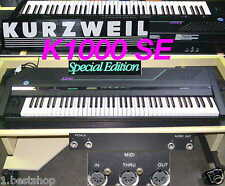 KURZWEIL K1000SE KEYBOARD SAMPLER ROLLWAGEN NOTENSTÄNDER STUDIO EQUIPMENT BW SYN