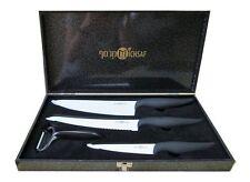 "5"" 8"" 8"" Ceramic Knifes + peeler Set Chef Kitchen Cutlery Black handle"