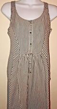 ONeill Womens Size Large Stripe Dress Back Cutout Pockets Side Zipper Boho