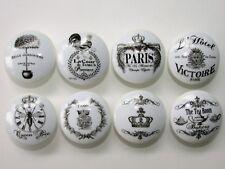 8 Paris France Vintage French Provincial Cottage Dresser Drawer Knobs Group 2