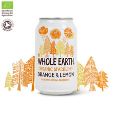 WHOLE EARTH | Natural Ingredients Organic Orange & Lemon 330ml  (24 Pack) | F D