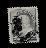 US  SC # 212 1 c Franklin  USED  - Centered