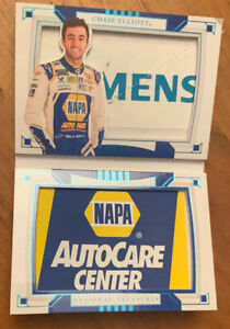 Chase Elliot 2020 National Treasures BOOKLET Race Used Firesuit Patches 1/1