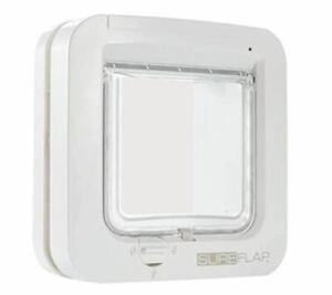 SureFlap SUR001 Cat Flap Microchip RFID Identification Safe Door White Friendly
