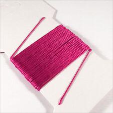 Cordon Coton Ciré 0,5mm – 5 Mètres Fuchsia pour Colliers et Bracelets de perles