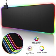 90x40 RGB LED Backlight Computer Gaming Large Mat Keyboard Desk Mouse Pad Carpet