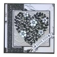 Flower Metal Cutting Dies Frame Scrapbooking Love Heart Lace Valentine Metal Die