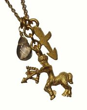 DAVID AUBREY SAGITTARIUS GOLD PLATED ARCHER ZODIAC NECKLACE SALE! RRP £35
