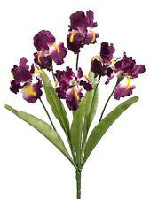 "12 Artificial 21"" Iris Bushes Silk Flower FAKE PLANT DECOR WEDDING CRAFT NEW 332"