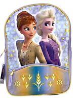 """Disney Frozen 2 Elsa & Anna 16"""" Backpack with 1 lower front pocket- FRBK"""