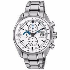 Citizen Eco-Drive Men's CA0590-82A HTM Chronograph White Dial 44mm Sport Watch