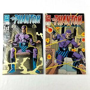 The Phantom DC Comics Issues 1, 2, Lot of 2 Vintage Comics VG/NM 1989 Sleeved