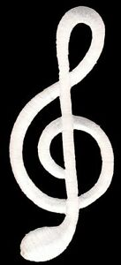 Bb91 Clef Music Notes Sew-On Iron-On Patch Application Music DIY