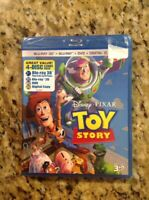 Toy Story 3D(Blu-ray/DVD, 2011, 4-Disc,Digital Copy 3D)NEW Authentic Disney US