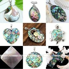 Cross Oval Round Natural Mother Of Pearl MOP Abalone Shell Pendant For Necklace