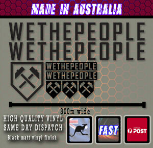 WETHEPEOPLE BMX WTP Style Frame Decals