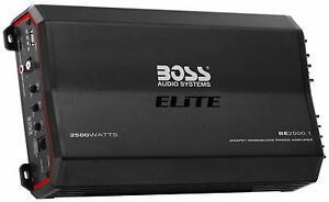 BOSS Audio Elite BE2500.1 Monoblock Car Amplifier - 2500 Watts, Class A/B