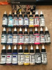 25 BRAND NEW  Golden Artists High Flow Fluid Acrylic Paint set 1oz 30ml Bottle