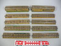 AM719-2# 18x Märklin H0/00/AC Gleisstück/Schienen M-Gleis f. 3600/800 Vorkrieg