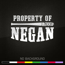 The Walking Dead Zombie Decal Sticker | Property Of Negan | Choose Color