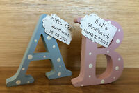New baby gift - gift for new baby - newborn gift - freestanding wooden letter