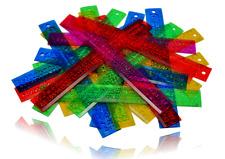 12 Inch/30cm Classroom Rulers for Kids in Bulk Shatterproof & Flexible (24 Pkg)