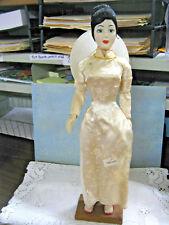 Antique THAI Asian Woman Lady Statue DOLL Figure Kimono THAILAND Vintage