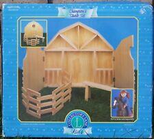 Wooden Champion's Stable Set by Collector's Lane NIB Doll / Horse Display