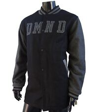 Diamond Supply Co. Script Black/Gray Varsity Long Jacket Mens size Large