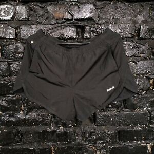 Reebok Running Shorts With Pockets Black Color Polyester Mens Size S