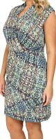 Nic + Zoe Urban Safari Faux Wrap Dress Size 2X Orig $174 *