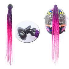 Hair Helmet Pigtails Braids Ponytail with Suction Cup Bowknot 24In Purple Red