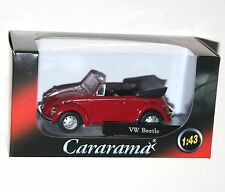 Cararama - VW Volkswagen BEETLE Cabrio (Red + Black Interior) Model Scale 1:43