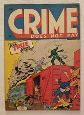 CRIME DOES NOT PAY #37 (LEV GLEASON 1942) GD/VG 3.0 CLASSIC PRECODE CRIME COMICS
