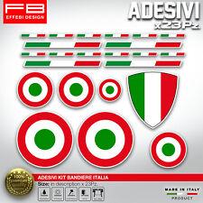 Adesivi Stickers kit BANDIERE ITALIA LOVE ITALY Moto Auto Bici Vespa 23 Pezzi !!