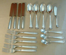 Antique Rogers Brothers 1918 Louvain Silverplate Flatwear 17 Pieces