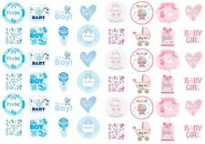 24 PRECUT Edible Baby Shower Boy Girl Cupcake Fairy Cake Wafer Decoration Topper