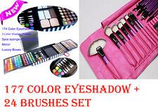 177 Full Color Makeup Eyeshadow palette + 24pcs Makeup Brushes Sets Natural Hair