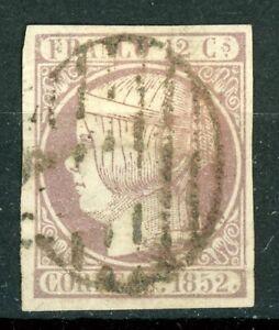 1852. 12 CUARTOS LILA. USADO EDIFIL 13