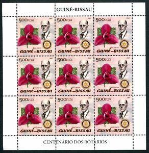 MTC1776 Guinea Bissau 2005 MNH Sheet Rotary Paul Harris Flowers