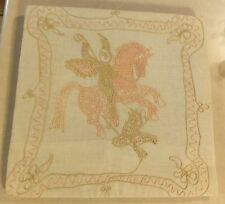 SPLIT STITCH EMBROIDERY MYTHICAL BIBLICAL WALL HANGING HORSE EAGLE FALCON ANGEL