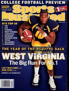 Steve Slaton West Virginia Mountaineer Football SIGNED Sports Illustrated COA!