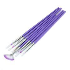 Art Pen Viola S8K7 7x gel UV acrilico Nail Set di pennelli di chiodo del ge V8E1