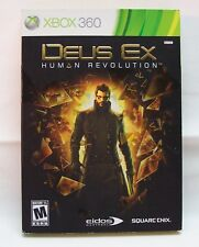 DEUS EX HUMAN REVOLUTION Microsoft Xbox 360 VIDEO GAME COMPLETE