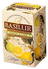 Basilur tea-lemon & lime thé noir – lot de 3 boîtes (total 60 sacs)