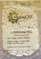 L-Ornithine HCL 100 x 500mg Capsules - Free Postage