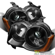 Black 2008-2010 Jeep Grand Cherokee Projector Headlights for OEM HID Model Only