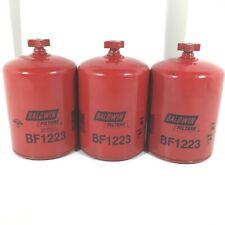 Fuel Water Separator Filter Baldwin BF1223 Set of 3
